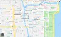 Three Amazon Go stores within walking distance of plenty of temporary buildings to house Amazon HQ2 hires.(Google/Google Maps)