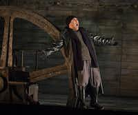 Andrew Stenson, as the Steersman, in dress rehearsal for the Dallas Opera's <i>The Flying Dutchman</i> on Oct. 9, 2018 at the Winspear Opera House (Robert W. Hart/Special Contributor)