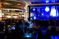 The Palazzo last month debuted Electra Cocktail Club in a choice casino floor space. Electra offers a high-energy cocktail experience with a custom drink menu and a 70-foot video wall that displays a choreographed sequence of art.(Michael Hiller/Special Contributor)