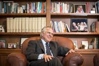 Richard Fisher, shown at his Federal Reserve Bank of Dallas office in 2015, shortly before he retired as president, lost his Senate race to then-GOP incumbent Sen. Kay Bailey Hutchison in 1994 by almost 23 percentage points.(Smiley N. Pool/Staff Photographer)