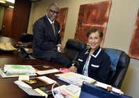Glenn and Sharyn Holley have each started their own businesses. Glenn Holley has started the Law offices of Glenn Holley and his wife, Sharyn Holley, is a leadership development consultant and opened Webster Alexander Co.(Ben Torres/Special Contributor)