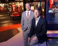 FC Dallas president Dan Hunt (left) and brother Clark Hunt, CEO of Hunt Sports Group, played a large role in bringing the National Soccer Hall of Fame to Frisco's Toyota Stadium.  (Jason Janik/Special Contributor)