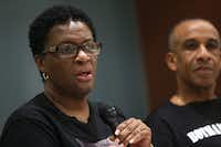 Allison Jean, the mother of Botham Jean, speaks during an interview in Dallas Tuesday. Botham Jean was shot and killed in his apartment by Dallas police officer Amber Guyger. Guyger was fired on Sept. 24.(Rose Baca/Staff Photographer)