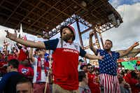FC Dallas supporters cheer their team before a game against Atlanta United.(Smiley N. Pool/Staff Photographer)