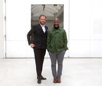 """<p>From left, Icelandic artist Ragnar Kjartansson and Chicago-based artist Theaster Gates at the Nasher Prize Dialogues series at the<span style=""""font-size: 1em; background-color: transparent;"""">Reykjavík</span><span style=""""font-size: 1em; background-color: transparent;"""">Art Museum in August</span></p>(Nan Coulter/Special Contributor)"""