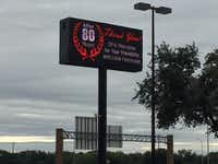 Exterior digital sign at Freed's Furniture located at 4355 Lyndon B Johnson Fwy, Dallas, TX 75244. Photo taken Oct. 18, 2018.(Maria Halkias/Dallas Morning News)