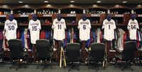 The odds of making it into the Texas Rangers locker room as a player aren't great, so maybe just take a tour of Globe Life Park.(2010 File Photo/Louis DeLuca)