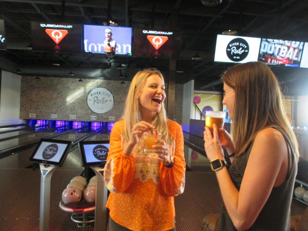 Bowl, sip and nosh at River City Roll, a new social game hall filling a warehouse in Scott's Addition, a revitalized district in Richmond, Va.(Robin Soslow/Special Contributor)