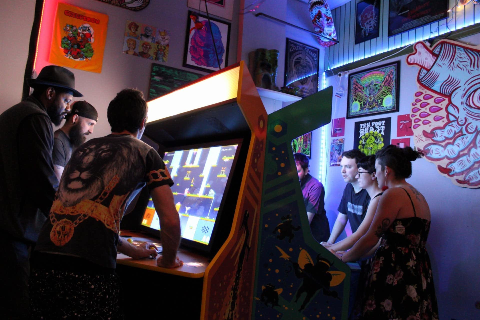Coin-Op's retro barcade is decked out with the owner's childhood toys and classic video games.(Courtesy/Coin-Op)