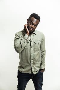 William Jackson Harper, who plays Chidi on <i>The Good Place</i>, has written his first play — about his hometown of Dallas.(Akos Stiller/The New York Times)