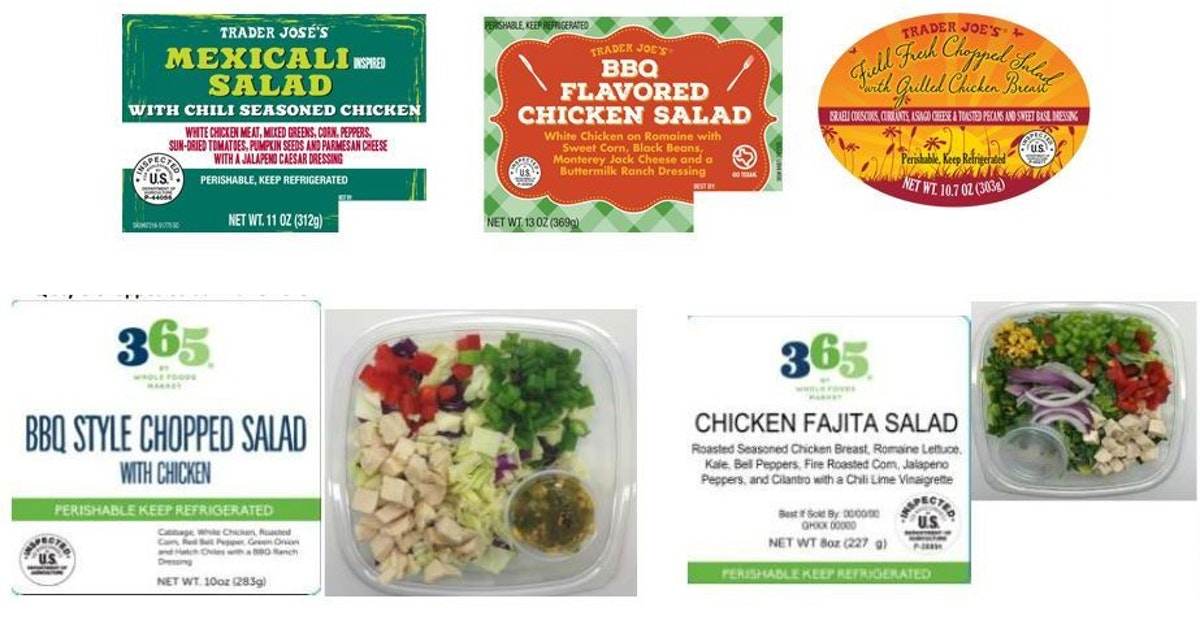 Salads Sold At Trader Joes Whole Foods Recalled Over Salmonella