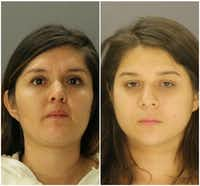 <p>Brenda Delgado (left) and Crystal Cortes also face capital murder charges in the case. Authorities say Delgado set the plot in motion, and Cortes was the getaway driver.</p>(Dallas County Jail)