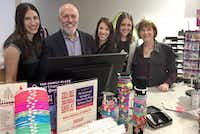 Jay and Janet Finegold and their three daughters --  (from left) Randi, Erin and Toby -- celebrated the grand opening of their new KidBiz The Biz boutique in Inwood Village at 5370 W. Lovers Lane. on Oct. 21 (Maria Halkias/Staff)