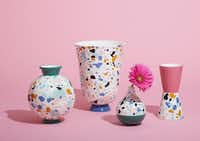 The terrazzo vases in Jonathan Adler's new collection for Amazon, Now House, are $28 to $88.(Amazon)