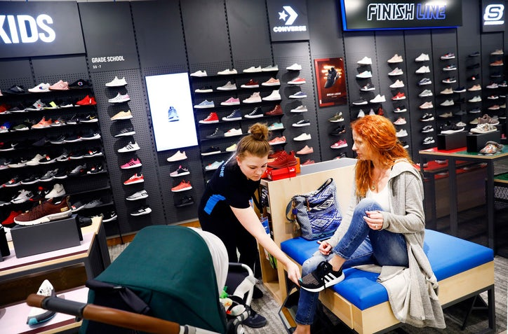 fb01de6fa A Finish Line shoe store is new to the Macy s store at NorthPark Center.  Here