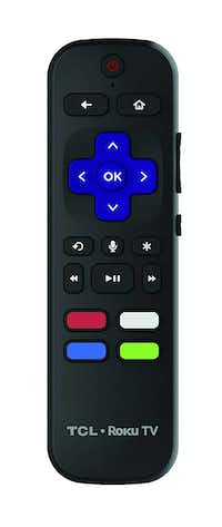 The Roku remote, included with the TCL 6-Series TV(TCL)