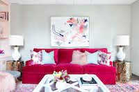 Decide on a couch that encourages guests to sit, back, relax and stay a while, says Abbe Fenimore.(Nina & B Photography)