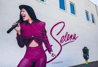 A mural of singer Selena is displayed at 338 W. Jefferson Blvd.(Ashley Landis/Staff Photographer)