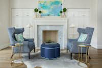 You can't go wrong with comfy fireside wing chairs, says Emily Larkin.(EJ Interiors)