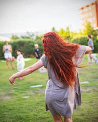 "Dancer-choreographer Jessica Thomas will perform ""an embodied exploration on the alchemical heat waves of the creative feminine fire"" at Burning Woman.(Jordan Fraker)"