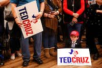 Matthew Allen, 7, waits for Sen. Ted Cruz to speak during a campaign rally at Sharon Shrine Center in Tyler, Texas on Thursday, Oct. 25, 2018.(Rose Baca/Staff Photographer)