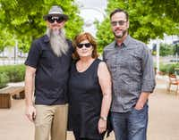 Aurora co-founders Joshua King, Veletta Forsythe Lill and Shane Pennington in Klyde Warren Park in 2015 (Ashley Landis/Staff Photographer)
