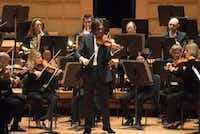 "Violinist Leonidas Kavakos performs Mozart's ""Turkish"" Violin Concerto in A major with the Dallas Symphony Orchestra at the Morton H. Meyerson Symphony Center on Thursday, Oct. 25, 2018.  (Rex C. Curry/Special Contributor)"