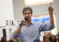 "Democratic Senate candidate Beto O'Rourke has accused Sen. Ted Cruz of being ""all talk and no action."" (Rose Baca/The Dallas Morning News)(Rose Baca/Staff Photographer)"