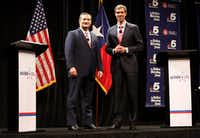 Republican Sen. Ted Cruz (left) and Democratic challenger Beto O'Rourke are locked in a tight battle to represent Texas in the U.S. Senate.(Tom Fox/Staff photographer)