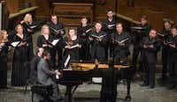 With Eduardo Rojas on piano and Donald Krehbiel conducting, the Orpheus Chamber Singers performed <i>The Passing of the Year</i> at University Park United Methodist Church on Saturday.(Rex C. Curry/Special Contributor)