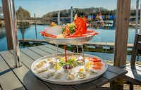 A raw seafood platter is served at Lobster Trap in Bourne, Mass., a popular seafood destination for nearly 50 years.(Lobster Trap)