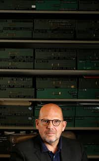 Jaap van Zweden poses for a portrait at the composition library at Meyerson Symphony Center in Dallas on April 18, 2018. (Nathan Hunsinger/Staff Photographer)