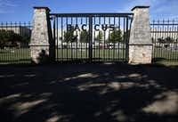 The entrance of Baccus Cemetery in Plano near The Shops at Legacy.(Rose Baca/Staff Photographer)