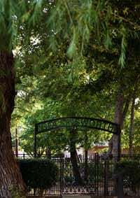 The entrance to Collinsworth Cemetery in Plano.(Rose Baca/Staff Photographer)