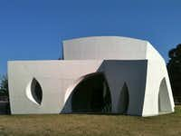 The Interfaith Peace Chapel,  a modern masterpiece designed by architect Philip Johnson, sits on the property of the Cathedral of Hope.(Mark Lamster)