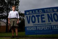 Tony Harkleroad, who retired as Chief Financial Officer of Richardson Independent School District in 2016, has taken a stand against the district's tax ratification election, and it's drawing some attention.(Shaban Athuman/Staff Photographer)