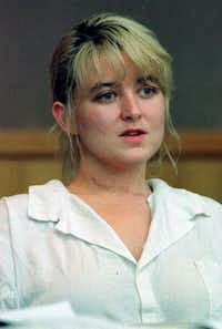In this June 1996 photo, Darlie Routier sits during an examination of evidence hearing in a Dallas courtroom. Routier is on death row for the slaying of her 5-year-old son, Damon. She was convicted in 1997.(File Photo/The Associated Press)