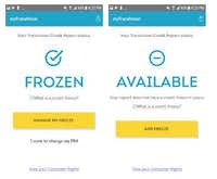 TransUnion is the first credit bureau to introduce an app to freeze and unfreeze a person's credit account.(Scren shot)