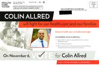 A Change Now political mailer in favor of Colin Allred. (Change Now)(Change Now)
