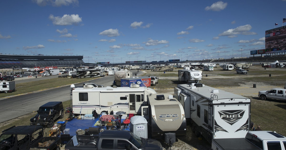 NASCAR fans build a virtual town to kick back, not talk politics in Fort Worth