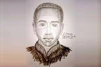 Police released a sketch of a suspect in three sexual assaults in Dallas. Police believe the same man is behind two attacks in Bossier City, La..(Dallas Police Department)