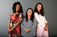 <p>From left: Tiffany Derry, Anastacia Quiñones and Dunia Borga </p>(Nathan Hunsinger/Staff Photographer)
