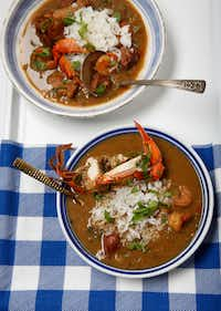 Seafood Gumbo made by Tiffany Derry(Nathan Hunsinger/Staff Photographer)