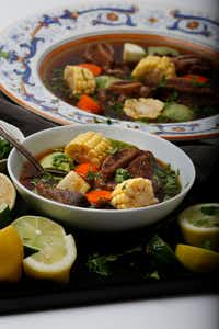 Caldo de Res made by Anastacia Quinones (Nathan Hunsinger/Staff Photographer)