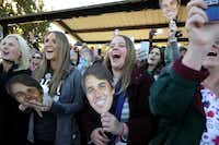 Supporters U.S. Senate candidate Beto ORourke's arrival at a campaign rally on Nov. 2 at Wayne Frady Park in Lewisville.(Chip Somodevilla/Getty Images)