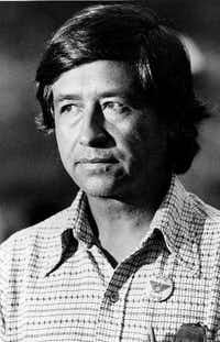 Cesar Chavez, leader of the United Farm Workers Union, in 1975.(The Associated Press)