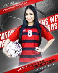 """<p><span style=""""font-size: 1em; background-color: transparent;"""">Yajaira Garcia played on the junior varsity soccer team for three years.&nbsp;</span><span style=""""font-size: 1em; background-color: transparent;"""">(Wichita Falls High School)</span></p>"""