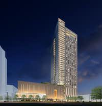 "<p><span style=""font-size: 1em; background-color: transparent;"">At 39 floors, The Victor apartment tower will be one of the tallest Dallas buildings outside of downtown.</span></p>(<p><span style=""font-size: 1em; background-color: transparent;"">Munoz + Albin,</span></p>)"