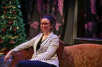 Director Joanie Schultz sat on the set for <i>A Doll's House</i> before a rehearsal at WaterTower Theatre on Oct. 9, 2018, at Addison Theatre Centre. (Ryan Michalesko/Staff Photographer<div><br></div><div><br></div>)