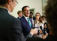 Rep. John Ratcliffe, R-Texas, speaks to media on Capitol Hill in Washington on Oct. 25, 2018.(Carolyn Kaster/AP)